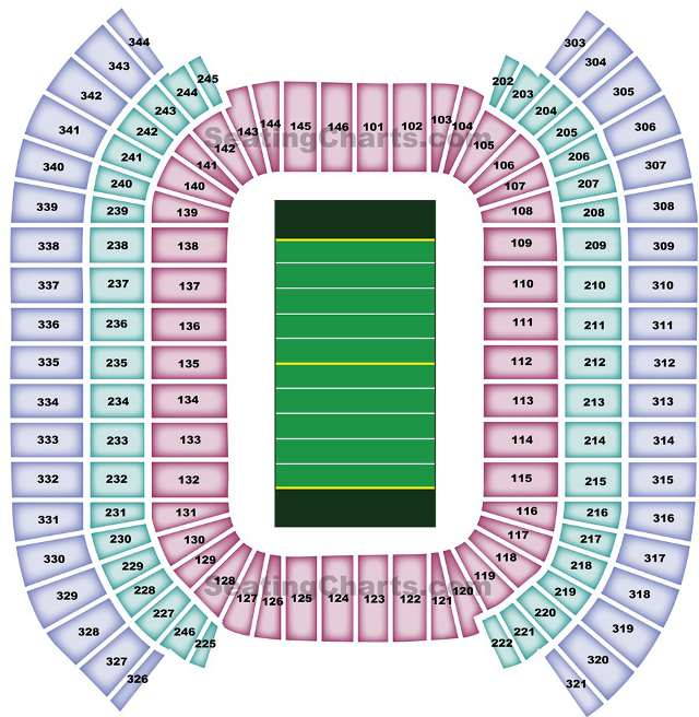 Tennessee Titans Seating Chart for LP Field